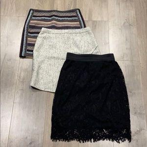 3 H&M skirts  Sz. 4-6